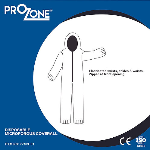 Prozone 一次性透氣膜無紡布連身防護衣 (S,M,L,XL,XXL)