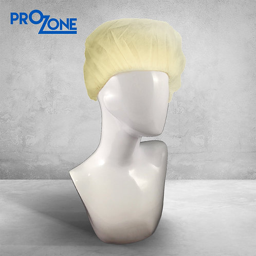 "Prozone一次性無紡布條形帽 - 黃色 (風琴)  21"" ( 100個/包 )"