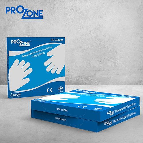 Prozone 一次性PE手套, 盒裝 (100pcs)