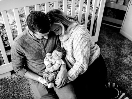 Sweet In-Home Lifestyle Newborn Session