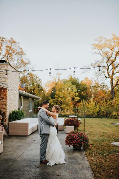 Intimate Arcadia Wisconsin Unposed Lifestyle Backyard Wedding