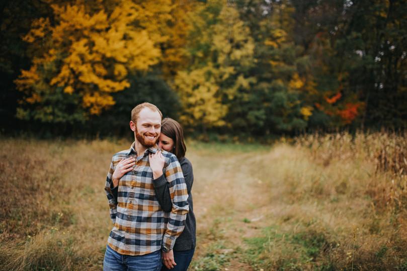 Whitehall Wisconsin Outdoor Unposed Lifestyle Engagement Photographer