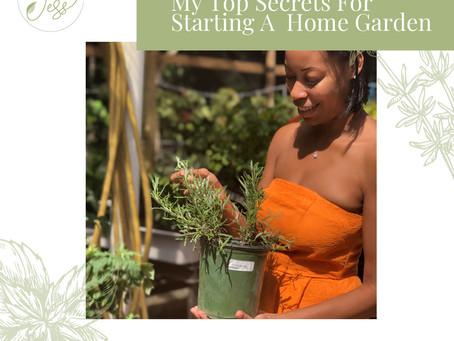 My Top Secrets for Starting A Home Garden