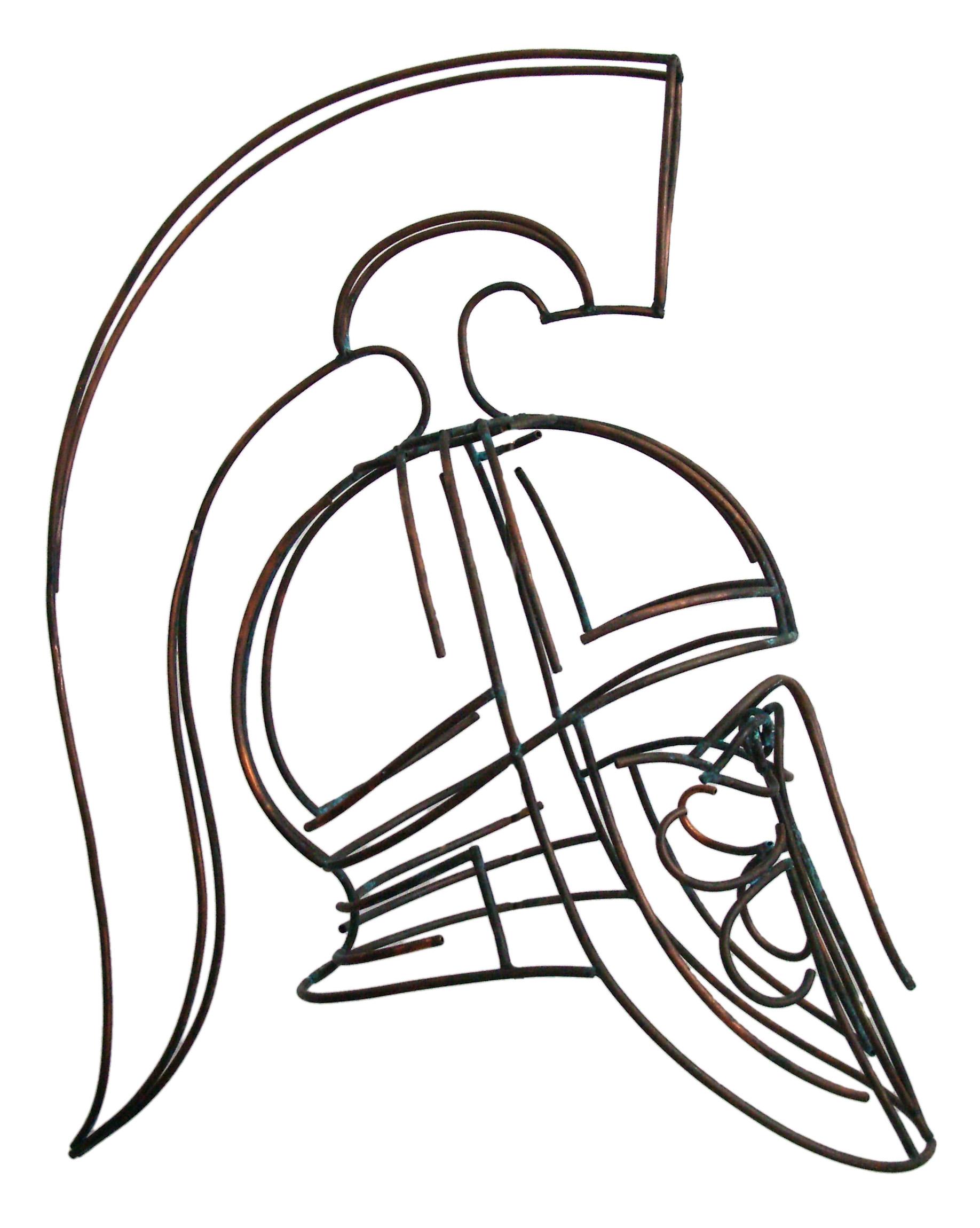 hoplite helmet sculpture