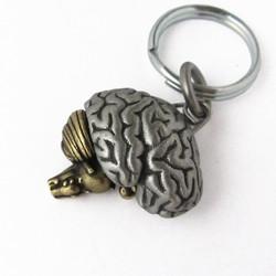 Articulating Brain Keychain