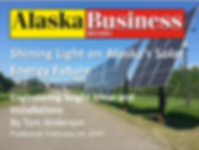 Solar Companies in Alaska, Renewable Energy in Alaska, Lime Solar in Alaska Business Monthly