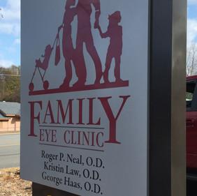 Family Eye Clinic ground mount monument