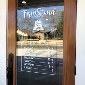 Farm Stand door graphics