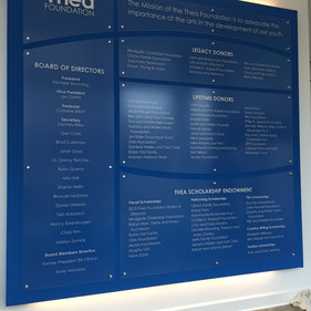Thea Foundation recognition wall