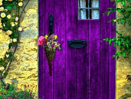 What intriguing ideas are hidden behind the purple door?