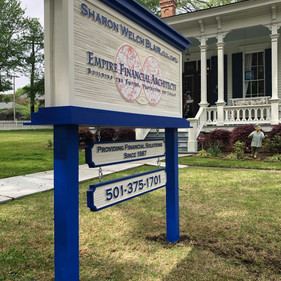 Empire Financial Architects identity ground mount sign
