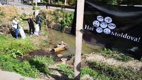 Cum arată râulețul Durlești după ce a fost curățat de voluntarii Hai Moldova