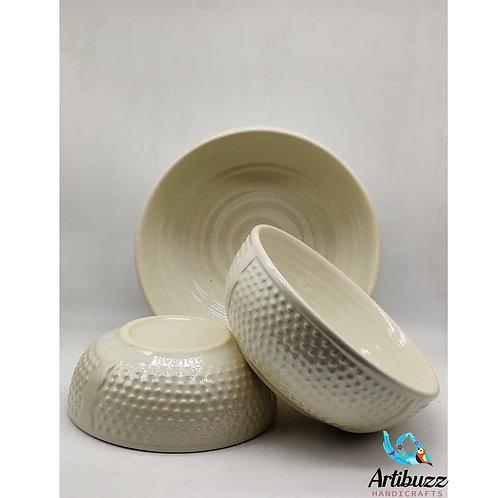Croco White Bowl
