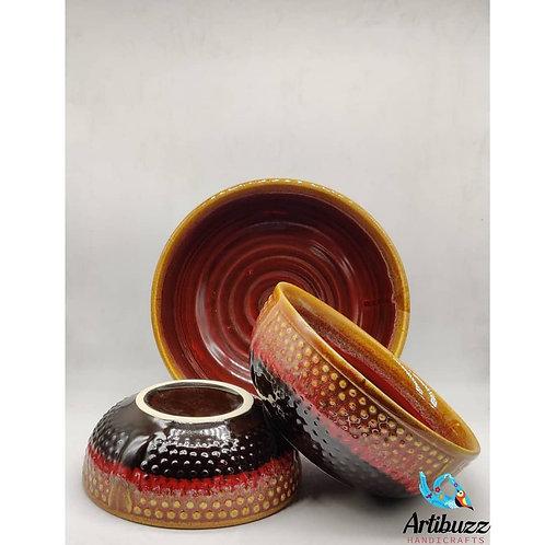 Croco Deutsch Bowl ( Set of 3)