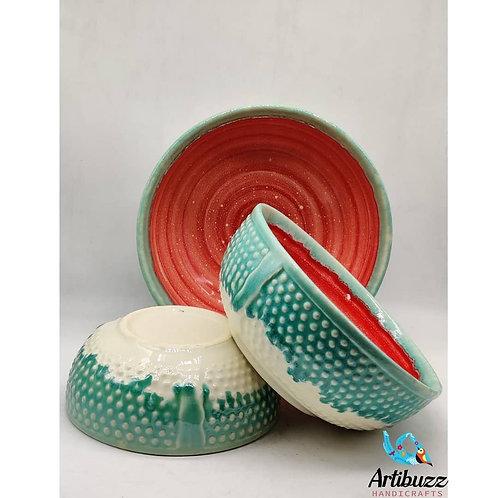 Croco Green Bowl ( Set of 3 )