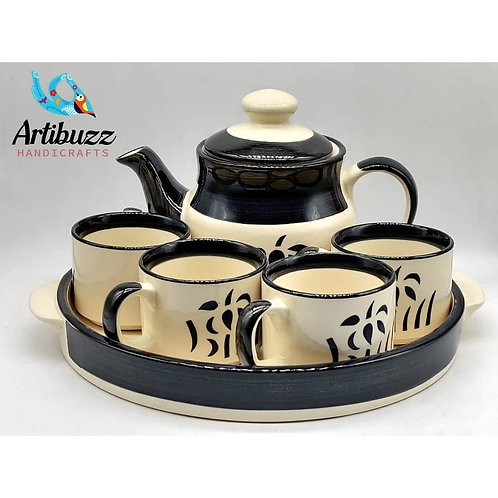 Kettle & cup set with tray