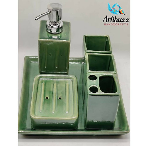 Green Bathroom Set