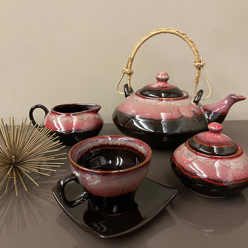 Brown Red Studio finish (Full Tea Set)