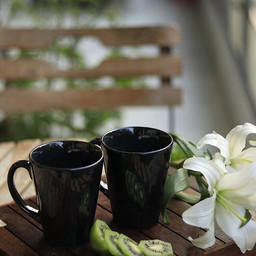 Black Steel Mugs (Set of 2)