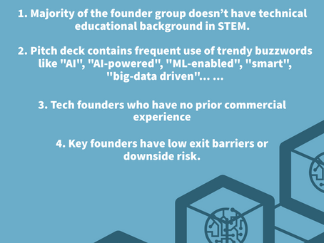Common RED flags that all tech startup investors should be wary of