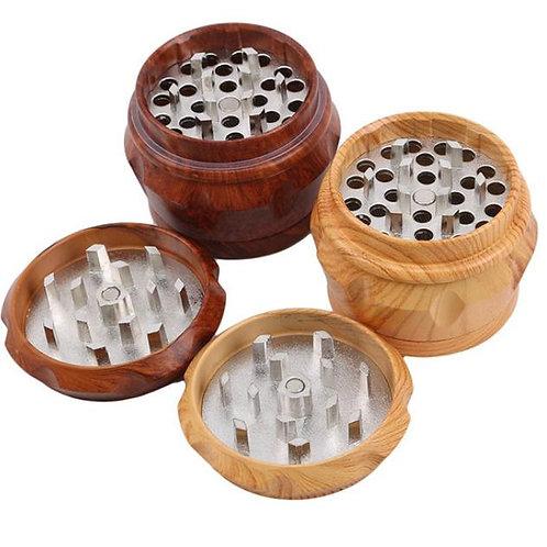 Hochwertiger Holz Grinder mit Blütenstaubfach