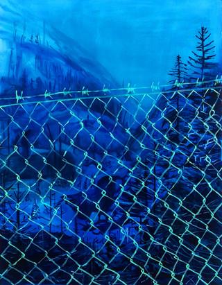 bliue fence