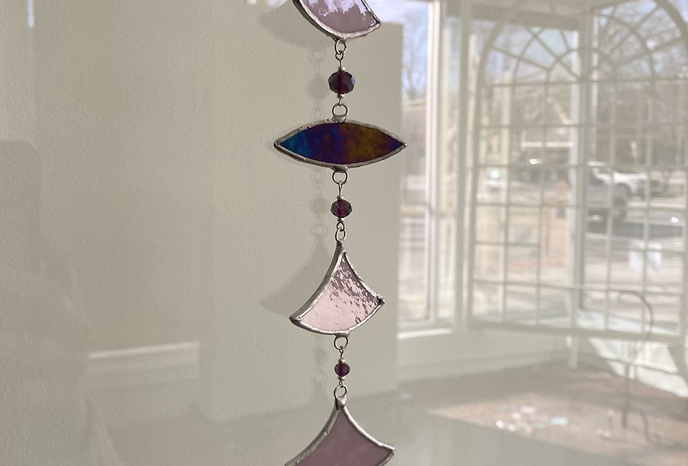 Lavender scales // stained glass // suncatcher