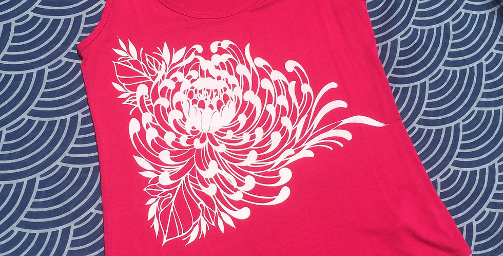 Chrysanthemum // Fuschia scoop // white