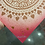 "Thumbnail: ""Spread the Love"" mandala // copper print // red background"