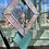 Thumbnail: Turquoise diamonds // stained glass // suncatcher