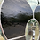 Thumbnail: Black stained glass // heart// pet tag holder