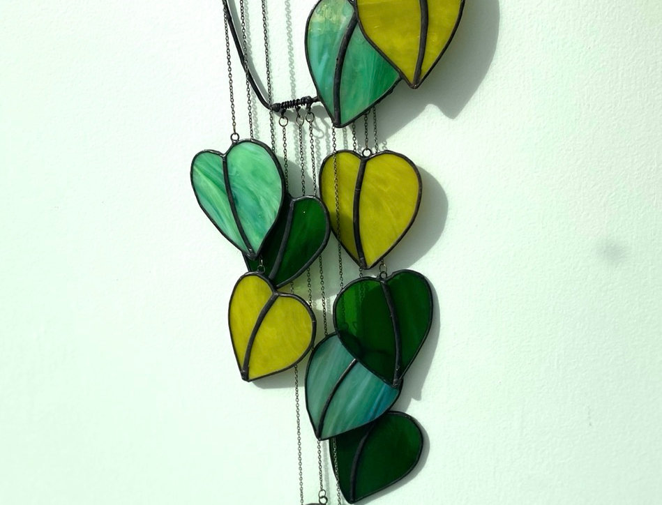 "The ""unkillable"" houseplant! // stained glass // suncatcher"