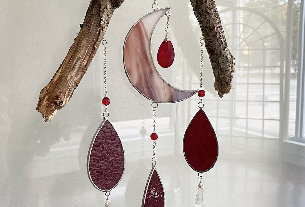 Blood Moon // red stained glass // suncatcher