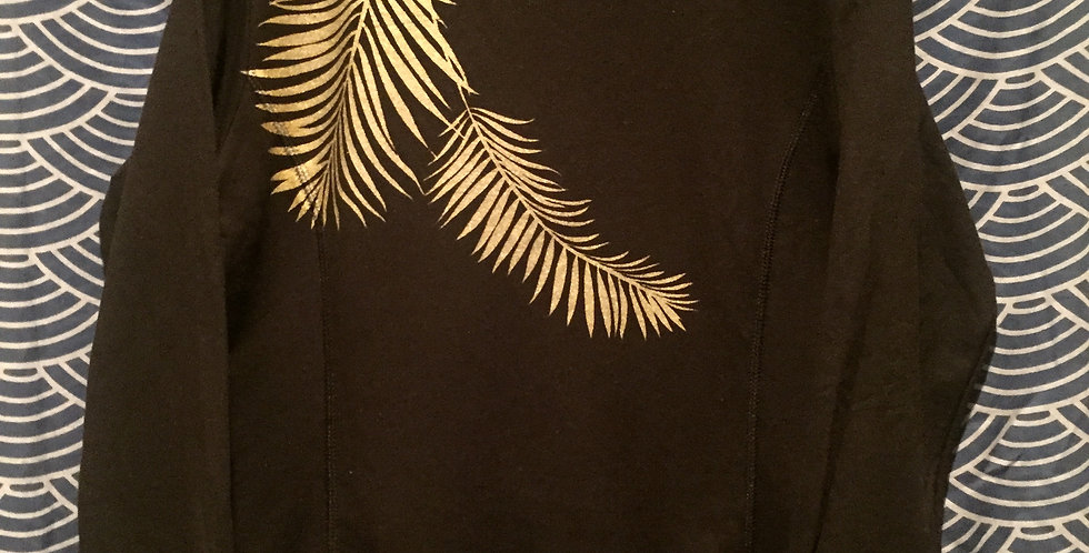 """""""Vacation Mode""""//Women's black pullover//gold"""