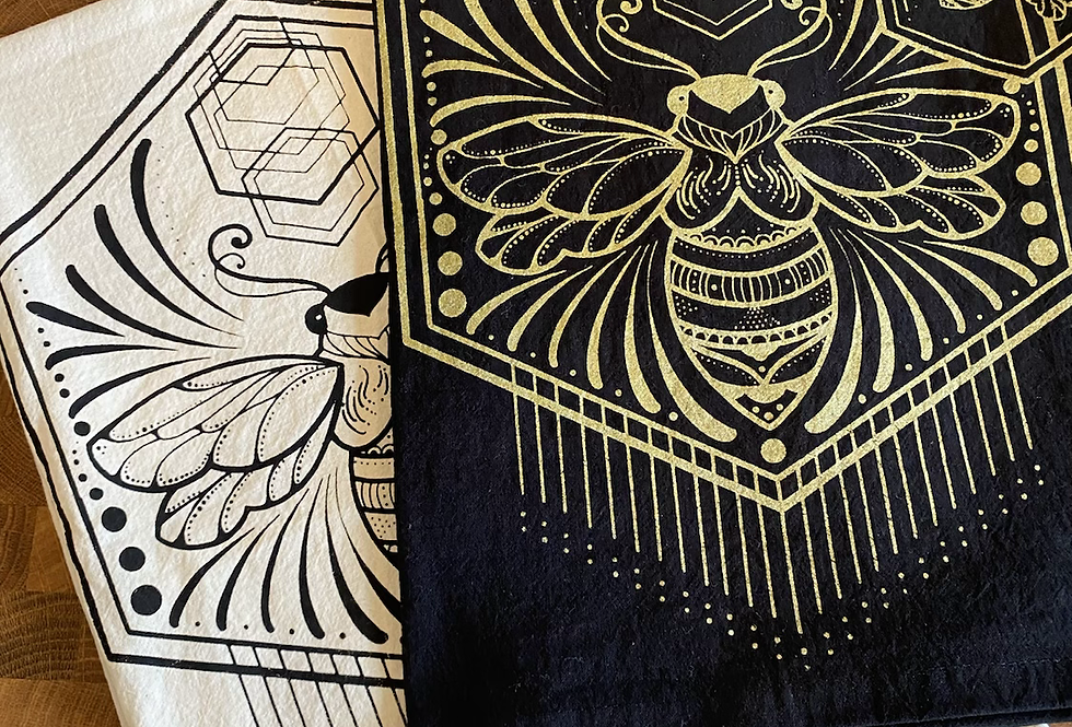 """Spread your wings"" // tea towel // black or gold option"