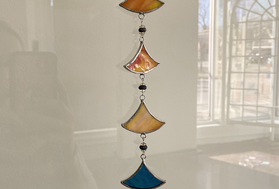 """""""Mediterranean vibes"""" scales // stained glass // suncatcher"""