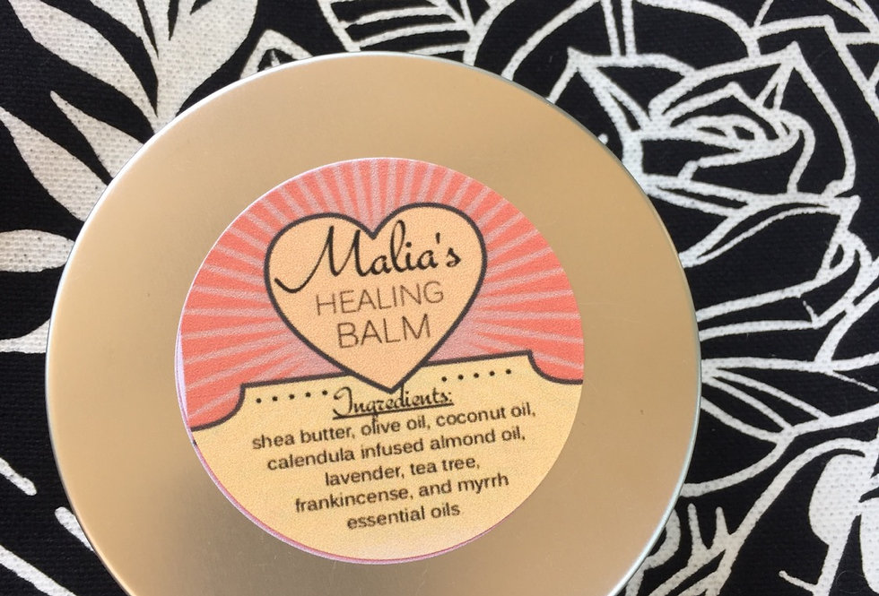 "malia's calendula ""healing balm"" // 4 ounce tin"