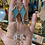 Thumbnail: Starlight // turquoise stained glass // earrings