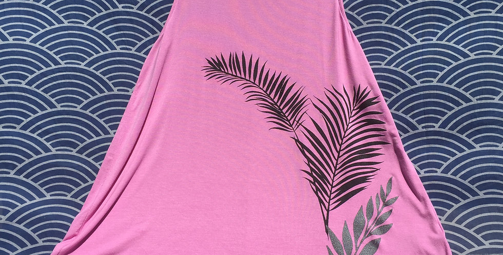 """Summer is coming""//Pink high scoop//multi color print"