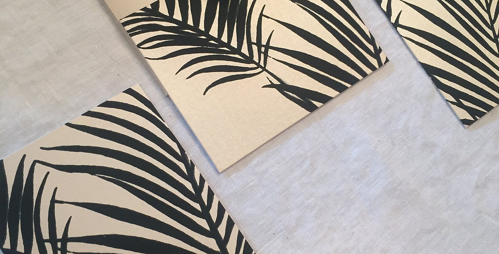 palm // Black // set of 3 notecards