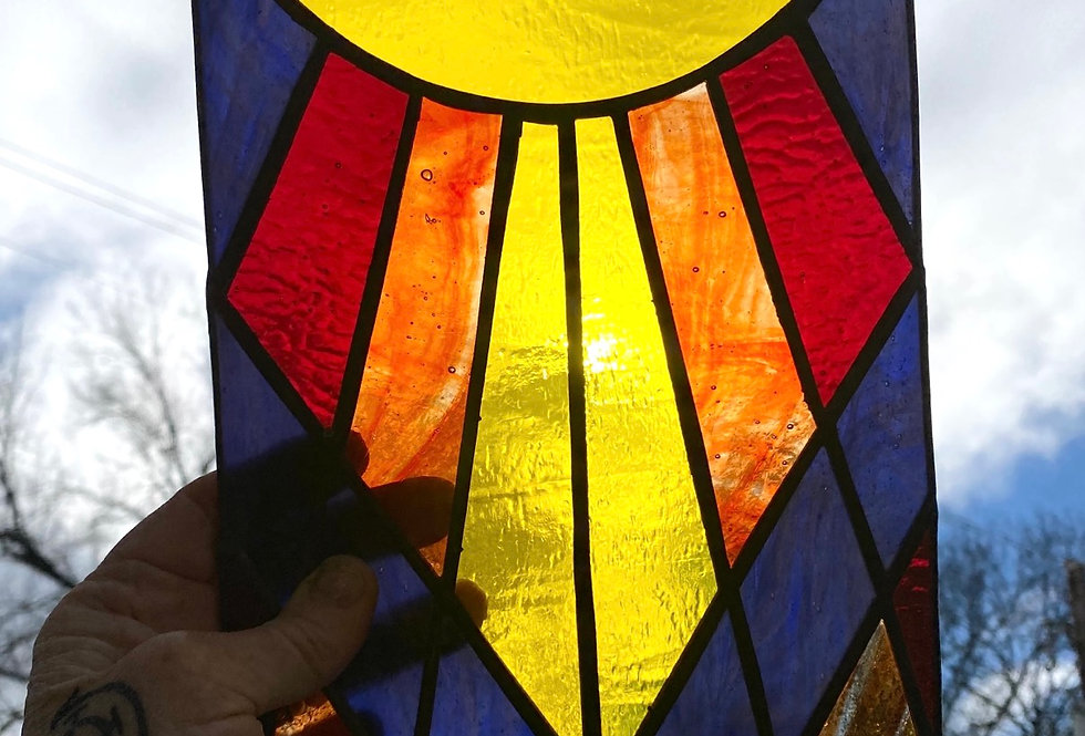 Geometric sunshine // panel // suncatcher