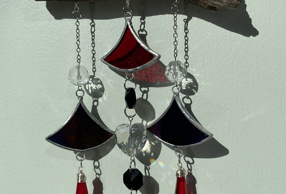 red & black scales // suncatcher