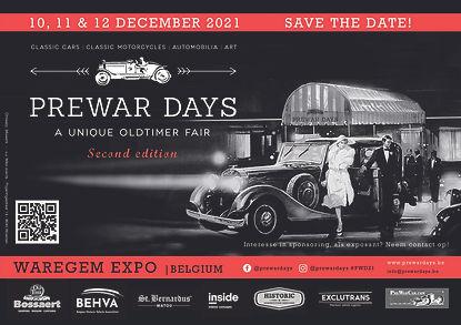 Oldtimerbeurs Waregem - Prewar Days 2021 Flyer Prewar Days