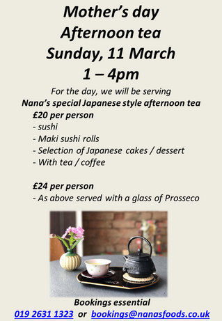 Japanese afternoon tea on Mother's Day
