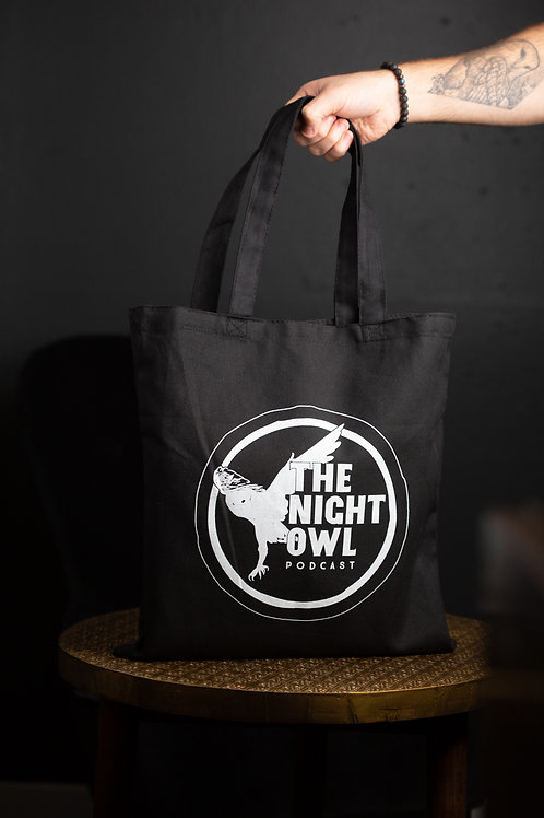 Night Owl Canvas Tote