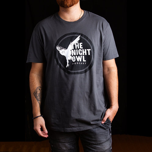 Night Owl Unisex Tee - Heavy Metal Grey