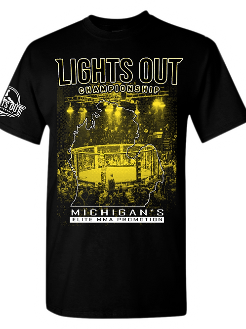 BELLA+CANVAS ® Unisex Jersey Short Sleeve Tee Lights Out Michigan's Elite MMA