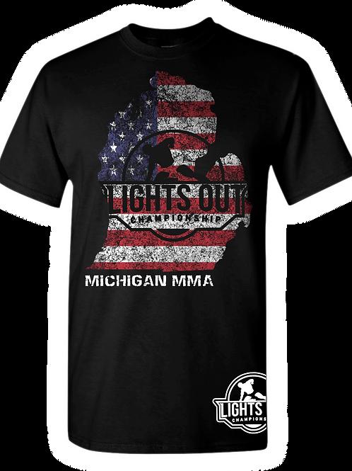 Unisex Jersey Short Sleeve Tee Michigan US Flag Shirt