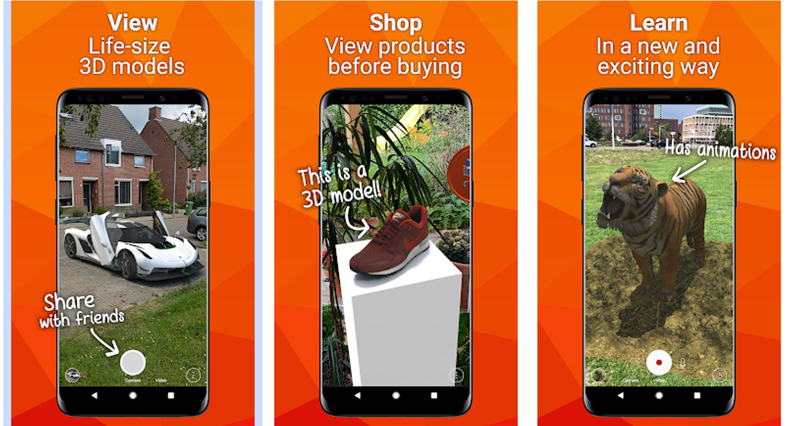 View, Shop and Learn in AR and VR
