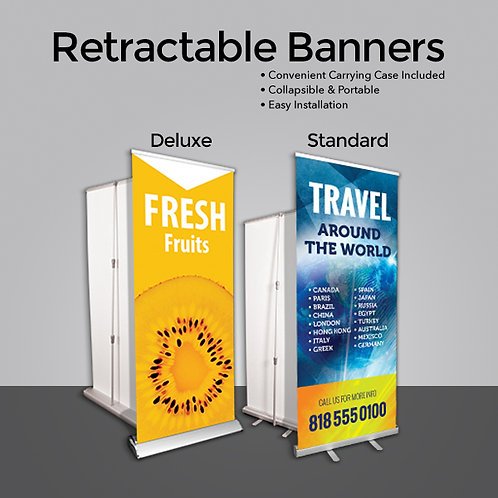 Retractable Banner w/ Stand